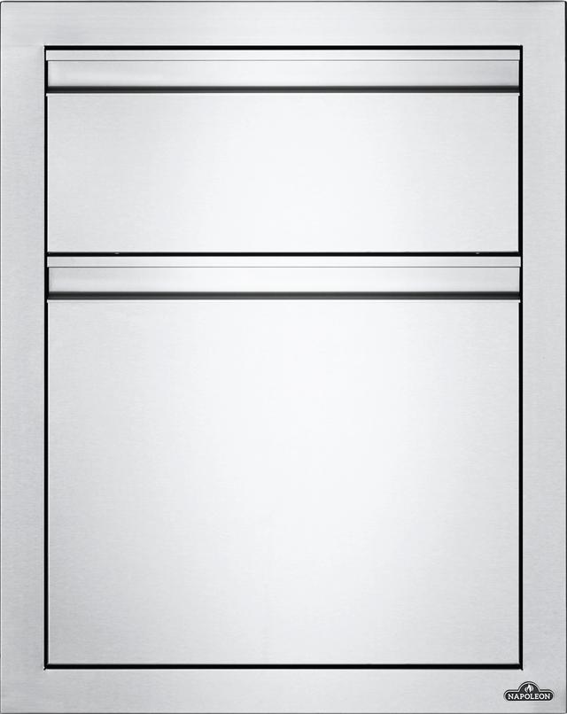 Tiroir de rangement d'extérieur Napoleon® - Acier inoxydable-BI-1824-2DR