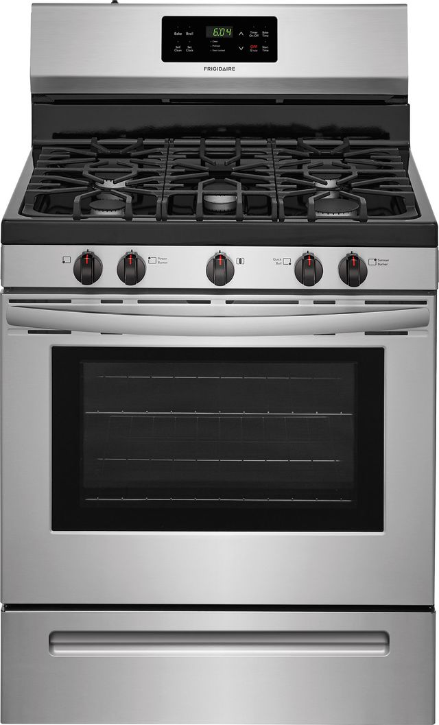 """Frigidaire® 30"""" Stainless Steel Free Standing Gas Range-FFGF3054TS"""
