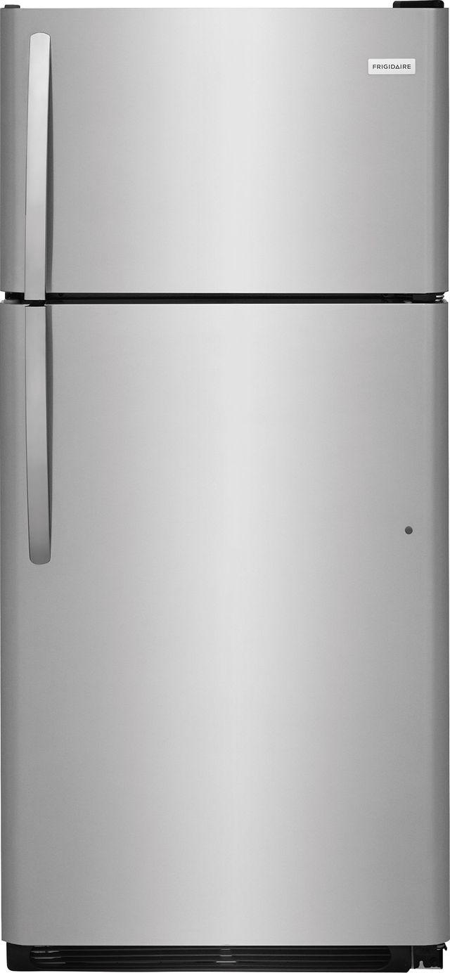 Frigidaire® 18 Cu. Ft. Stainless Steel Top Freezer Refrigerator-FFTR1821TS