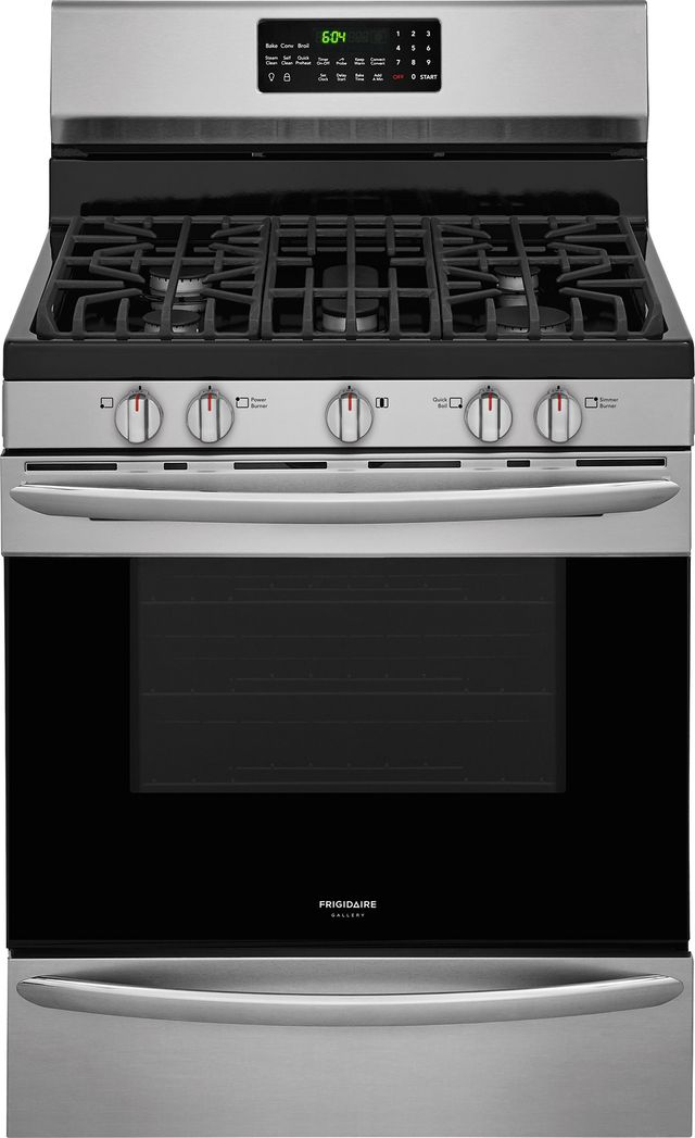 """Frigidaire Gallery® 29.88"""" Stainless Steel Free Standing Gas Range-FGGF3059TF"""