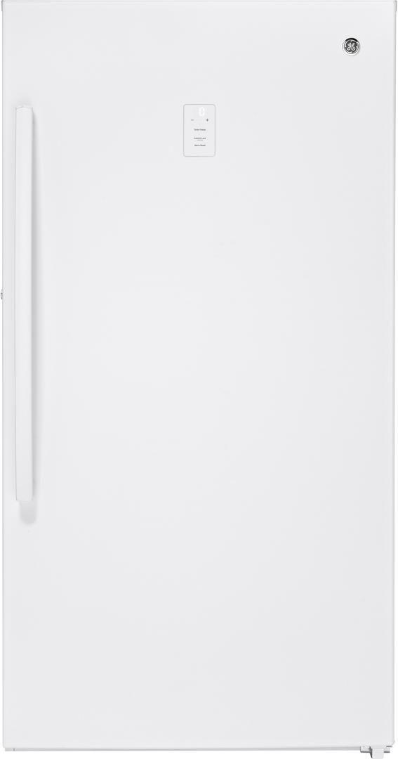 GE® 17.3 Cu. Ft. Upright Freezer-White-FUF17DLRWW