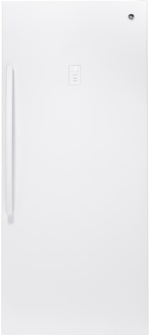 GE® 21.3 Cu. Ft. Upright Freezer-White-FUF21DLRWW
