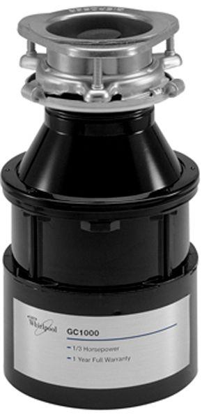 Whirlpool® 1/3 HP In-Sink Food Waste Disposer-Black-GC1000XE