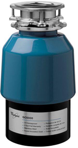Whirlpool® 3/4 HP In-Sink Food Waste Disposer-Black-GC5000XE