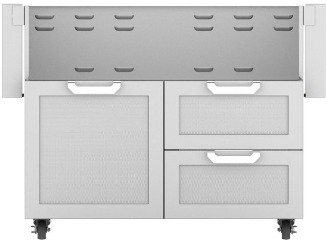 """Hestan Professional 42"""" Outdoor Double Drawer and Door Tower Cart-Stainless Steel-GCR42"""