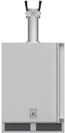 Hestan Professional 5.2 Cu. Ft. Outdoor Double Faucet Beer Dispenser-Stainless Steel-GFDSL242