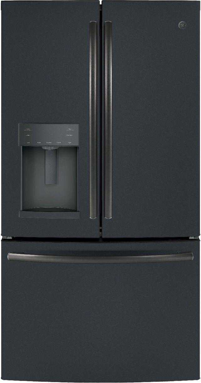 GE® 27.8 Cu. Ft. French Door Refrigerator-Black Slate-GFE28GELDS