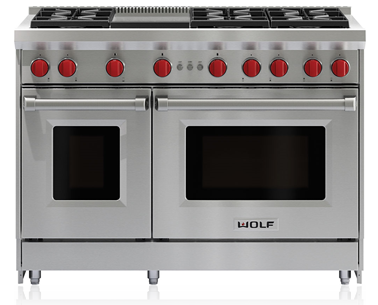 """Wolf® 48"""" Pro Style Gas Range-Stainless Steel-GR486G"""