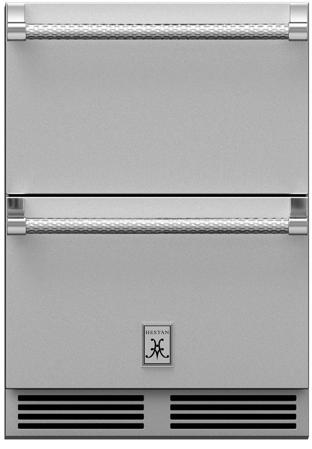 "Hestan Professional 24"" Steeletto Outdoor Refrigerator Drawer-GRR24"