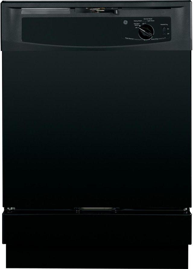 "GE® 24"" Built In Dishwasher-Black-GSD2100VBB"