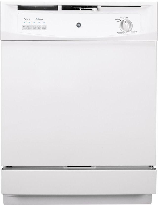 "GE® 24"" Built In Dishwasher-White-GSD3300KWW"