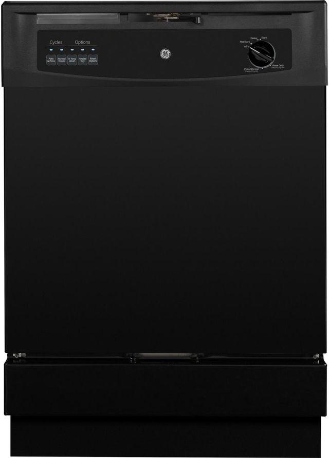 "GE® 24"" Built In Dishwasher-Black-GSD3301KBB"
