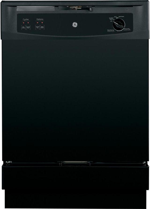 """GE® Spacemaker 25"""" Under-The-Sink Dishwasher-Black-GSM2200VBB"""