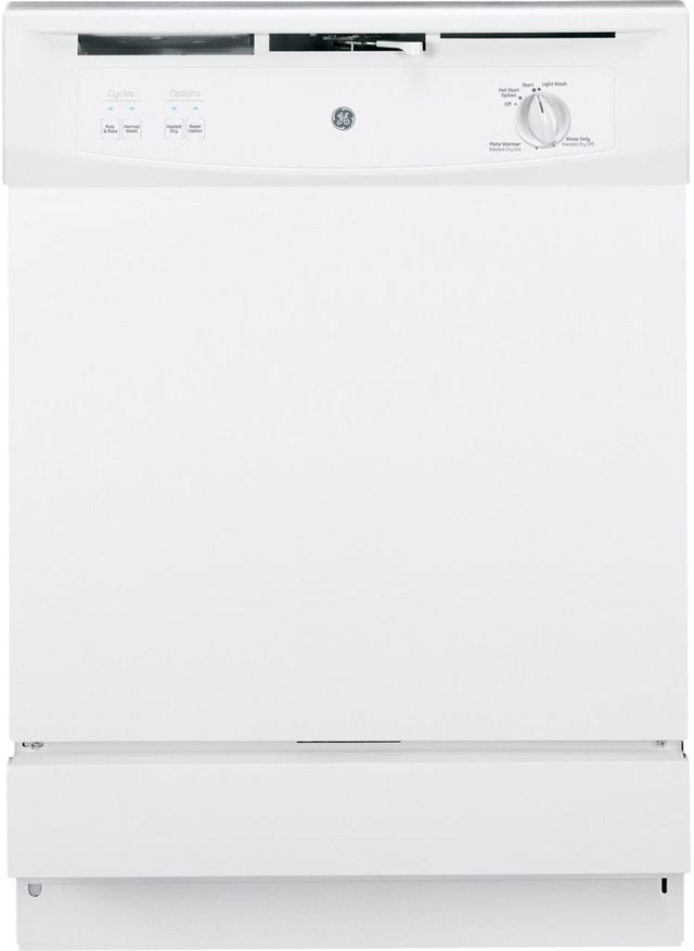 """GE® Spacemaker 25"""" Under-The-Sink Dishwasher-White-GSM2200VWW"""