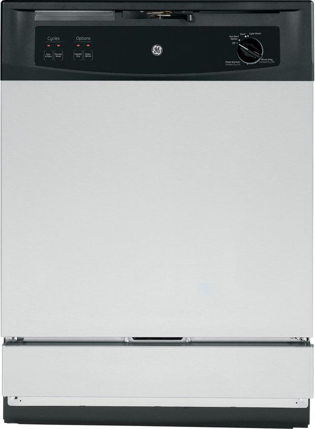 """GE® Spacemaker 24"""" Under-The-Sink Dishwasher-Stainless Steel-GSM2260VSS"""