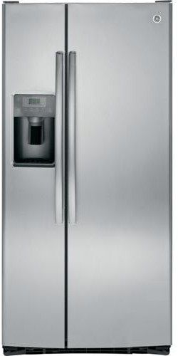 GE® 22.5 Cu. Ft. Stainless Steel Side-by-Side Refrigerator-GSS23HSHSS