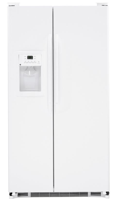 GE® 25.4 Cu. Ft. White Side-by-Side Refrigerator-GSS25GGHWW