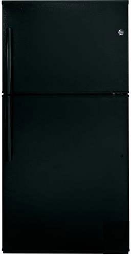 GE® 21.2 Cu. Ft. Top Freezer Refrigerator-Black-GTE21GTHBB