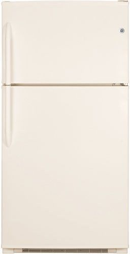 GE® 21.2 Cu. Ft. Top Freezer Refrigerator-Bisque-GTE21GTHCC