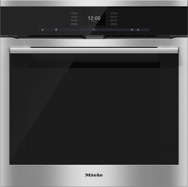 """Miele ContourLine SensorTronic 24"""" Built In Electric Oven-Stainless Steel-H6560BP"""