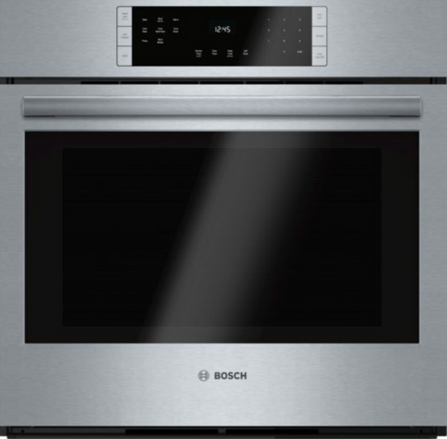 """Bosch 800 Series 30"""" Electric Single Oven Built In-Stainless Steel-HBL8451UC"""