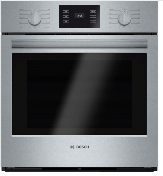 """Bosch 500 Series 27"""" Electric Single Oven Built In-Stainless Steel-HBN5451UC"""