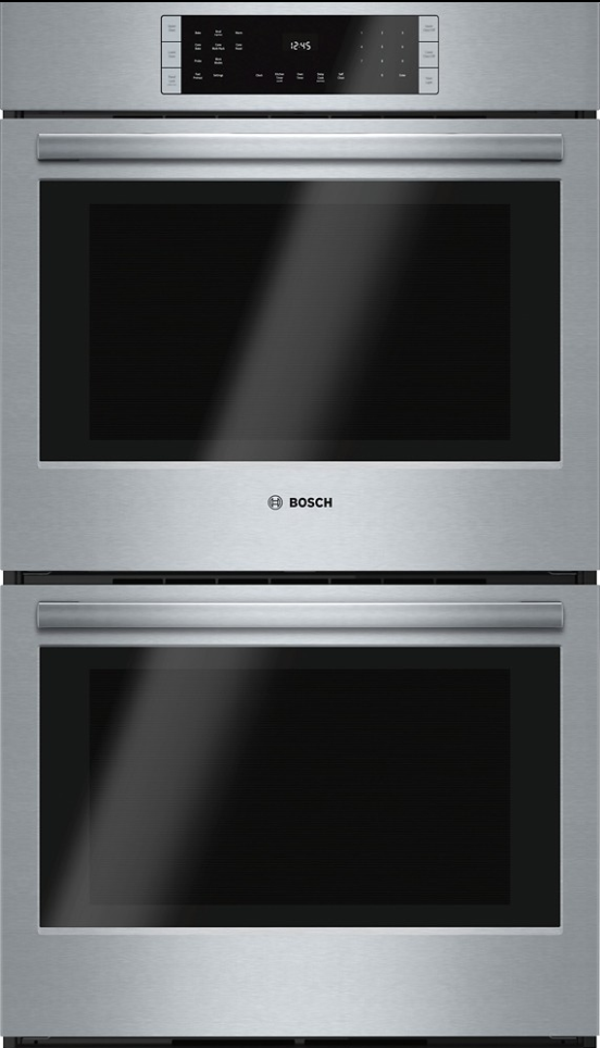 """Bosch 800 Series 27"""" Electric Double Oven Built In-Stainless Steel-HBN8651UC"""