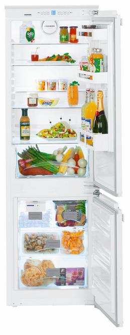 Liebherr 9.3 Cu. Ft. Fully Integrated Bottom Freezer Refrigerator-White-HC-1050B
