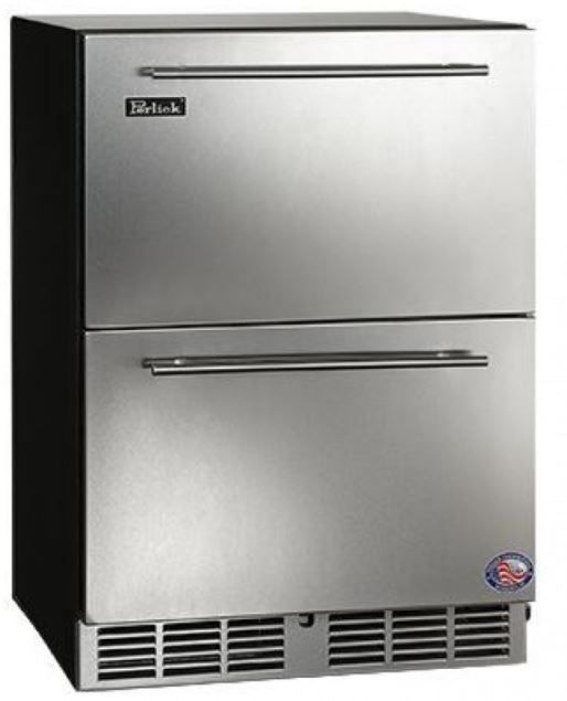 Perlick C-Series 5.3 Cu. Ft. Outdoor Compact Refrigerator Drawers-Wood Overlay-HC24RO-6