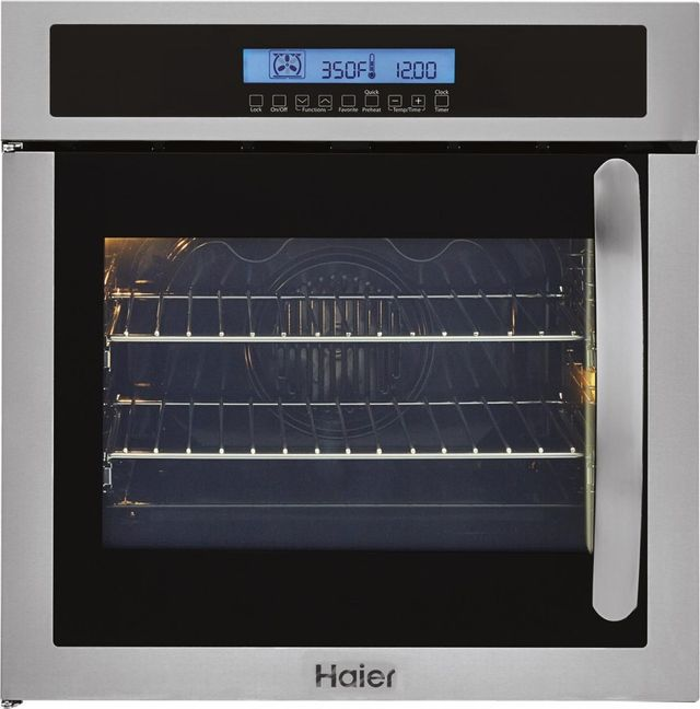 """Haier 24"""" Electric Built-In Single Oven-Stainless Steel-HCW225LAES"""