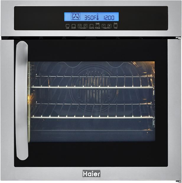 """Haier Stainless Steel 24"""" Electric Built-In Single Oven-HCW225RAES"""