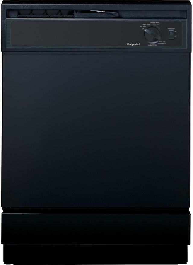 """Hotpoint® 24"""" Black Built In Dishwasher-HDA2100HBB"""