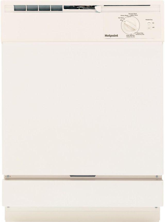 """Hotpoint® 24"""" Bisque Built In Dishwasher-HDA2100HCC"""