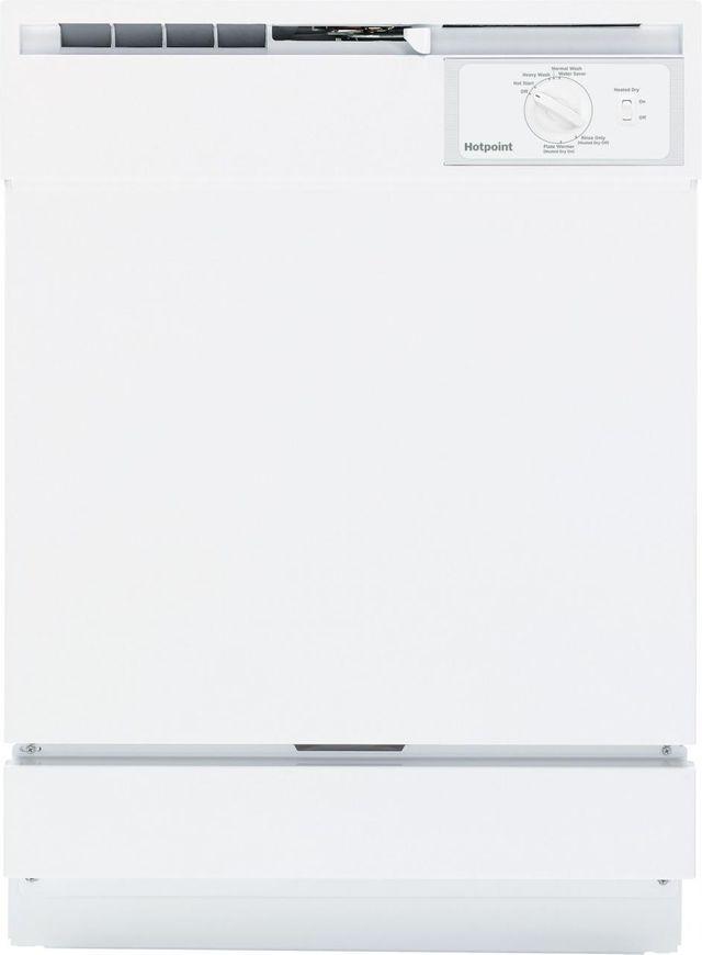 """Hotpoint® 24"""" White Built In Dishwasher-HDA2100HWW"""