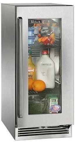 Perlick Signature Series 2.8 Cu. Ft. Outdoor Refrigerator-Wood Overlay/Glass Door-HP15RO-4L
