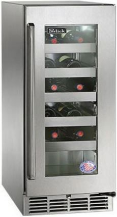 """Perlick® Signature Series 15"""" Outdoor Wine Reserve-Stainless Steel-HP15WO-3-3R"""