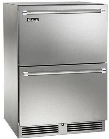 Perlick Signature Series 5.2 Cu. Ft. Outdoor Refrigerator Drawers-Wood Overlay-HP24RO-6