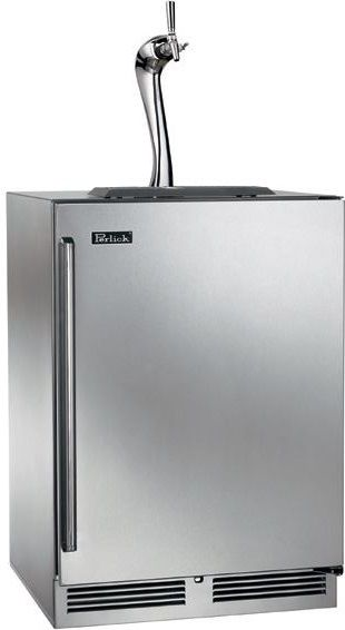Perlick® Signature Series 5.2 Cu. Ft. Stainless Steel Beer Cooler/Kegerator-HP24TS-3-1R1A