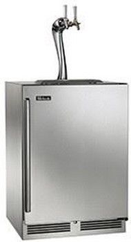 Perlick® Signature Series 5.2 Cu. Ft. Stainless Steel Beer Cooler/Kegerator-HP24TS-3-1R2A
