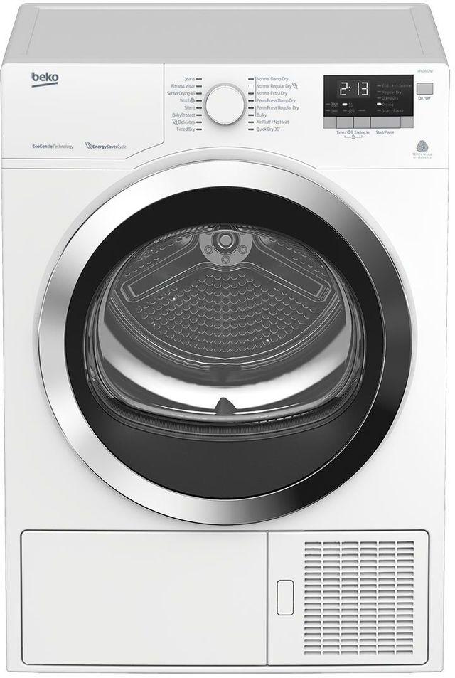 """Beko 24"""" White Front Load Heat Pump Dryer-HPD24412W"""