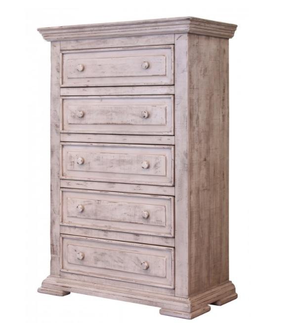 International Furniture© 1022 Terra Distressed Vintage White Chest-IFD1022CHEST