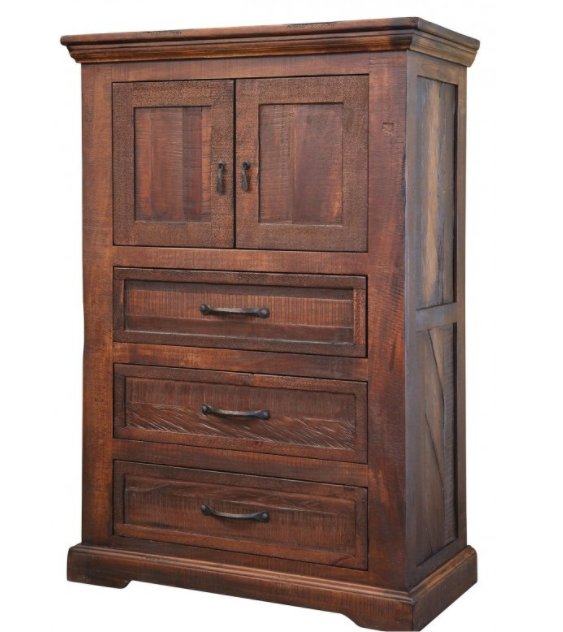 International Furniture© 1200 Madeira Multi-Step Lacquer With Deep Brown Stained Chest-IFD1200CHEST