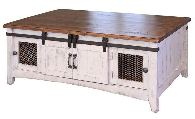 International Furniture© 360 Pueblo White Cocktail Table-IFD360CKTL-W