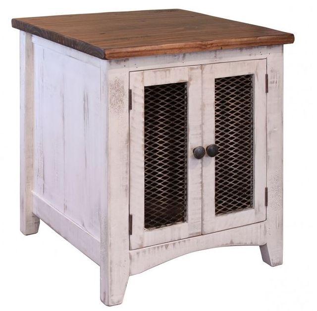 International Furniture© 360 Pueblo White End Table-IFD360END-W