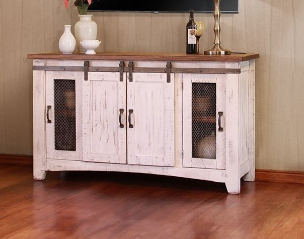 "International Furniture© 360 Pueblo White 60"" Stackable TV Stand-IFD360STAND-60"