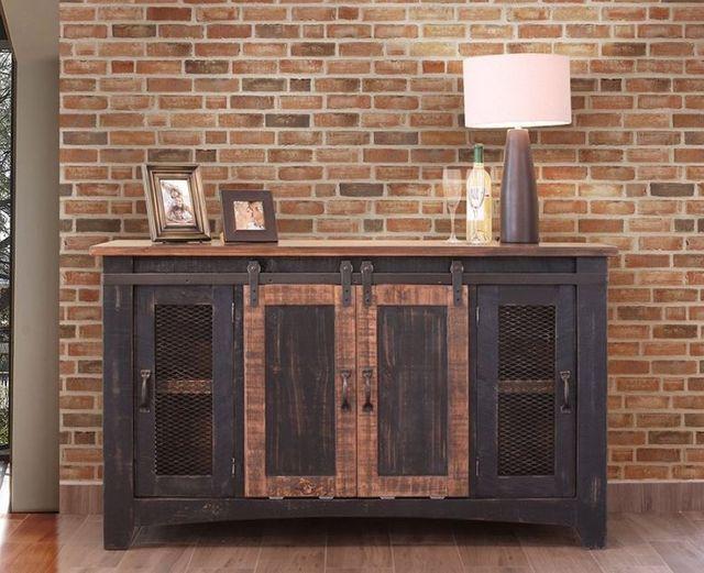 "International Furniture© 370 Pueblo Black 60"" Stackable TV Stand-IFD370STAND-60"