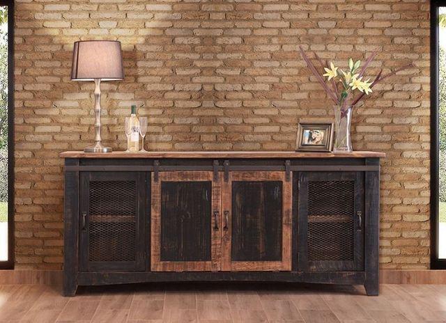 "International Furniture© 370 Pueblo Black 80"" Stackable TV Stand-IFD370STAND-80"