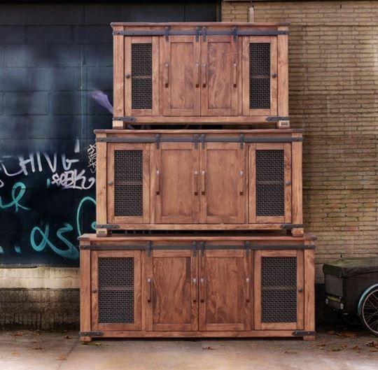 "International Furniture© 867 Parota 60"" Stackable TV Stand-IFD867STAND-60"