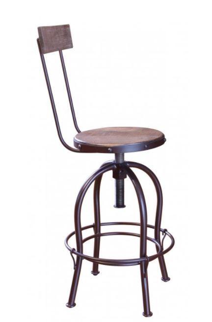 International Furniture© 964 Antique Multicolor Adjustable Barstool-IFD964BS2430
