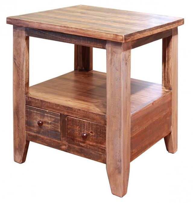 International Furniture© 900 Antique End Table-IFD965END